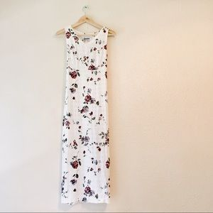 Vintage 1990s midi sheath dress rose floral print